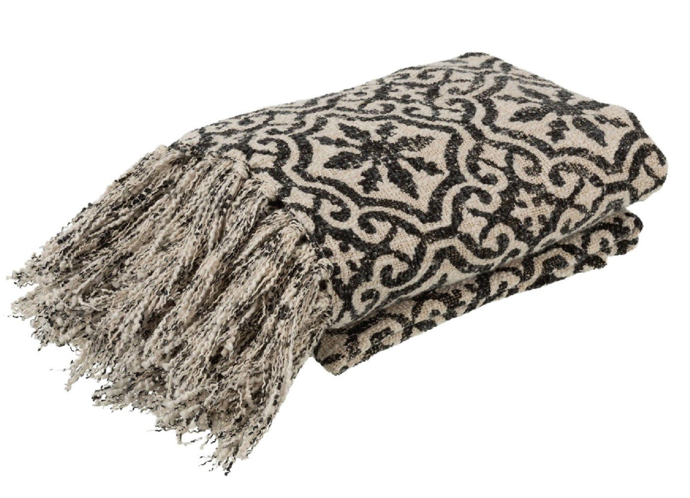 Moroccan Style Monochrome Throw
