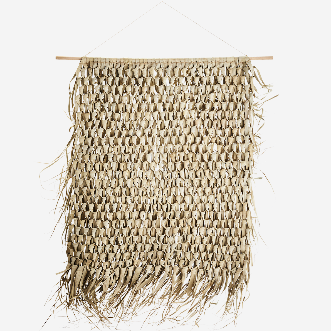 Woven Palm Leaf Hanging Wall Art Decoration