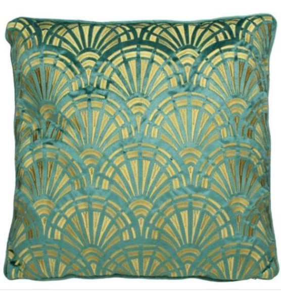 Art Deco Style Velvet Cushion And Cover