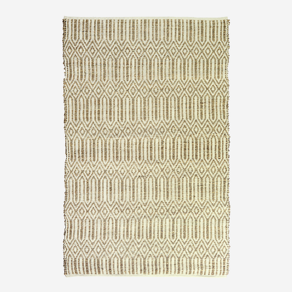 Geometric Woven Seagrass And Cotton Rug