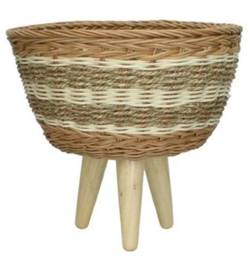 Natural Seagrass Basket Planter