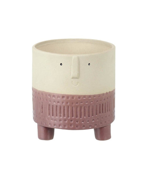 Boho Style Decorative Plant Pot Smile Face Planter