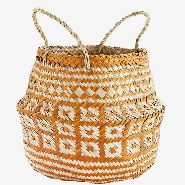 Rustic Boho Woven Seagrass Storage Basket