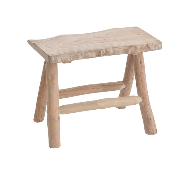 Artisan Made Carved Wooden Stool