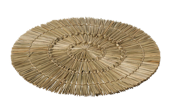 Set of Four Natural Round Dining Table Placemats