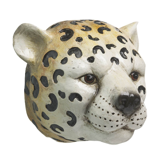Artificial Hanging Leopard Head Wall Art