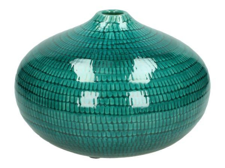 Aqua Green Ceramic Bud Vase
