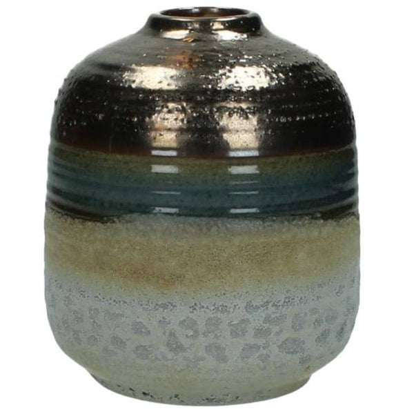 Metallic Bronze Ceramic Vase