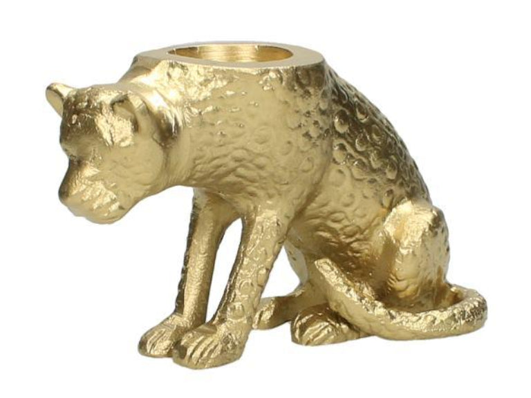 Cheetah Tea Light Candle Holder