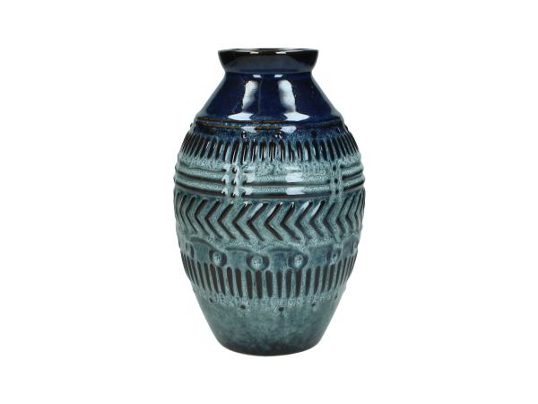 Petrol Blue Ceramic Vase