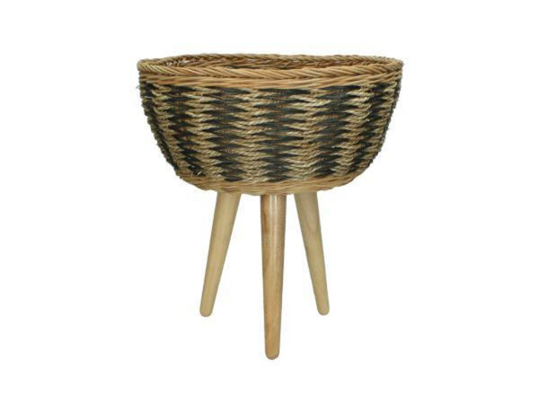 Brown Seagrass Basket Planter