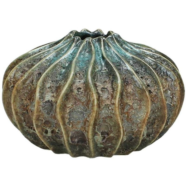 Textured Ceramic Sea Urchin Vase