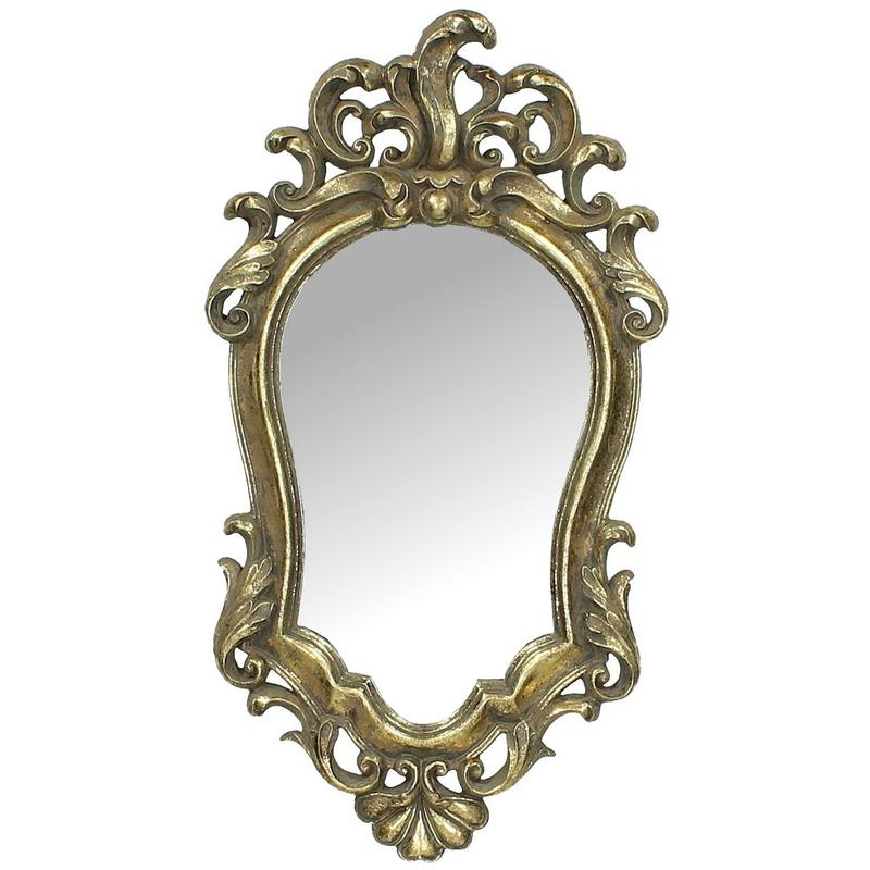 Ornate Hanging Gold Wall Mirror