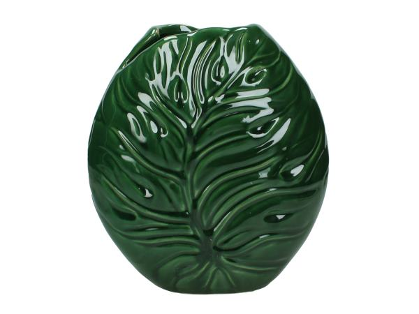 Green Ceramic Leaf Vase