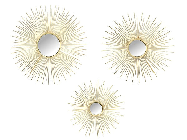 Sunburst Hanging Wall Mirrors