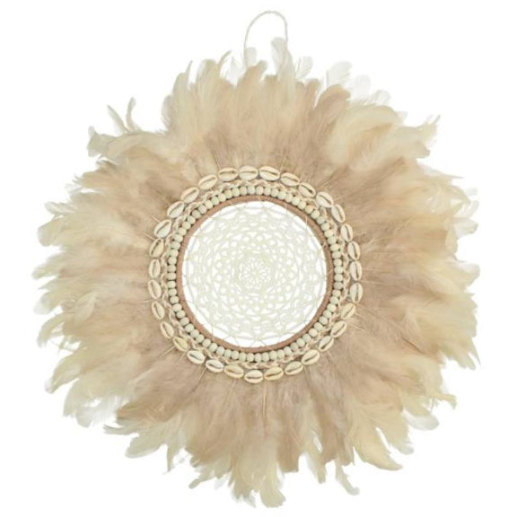 Dream Catcher Feather And Shell Ornate Lace Wall Art