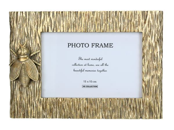 Gold Insect Freestanding Photo Frame
