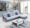 Modern L-shaped leath-aire sofa - JFF513