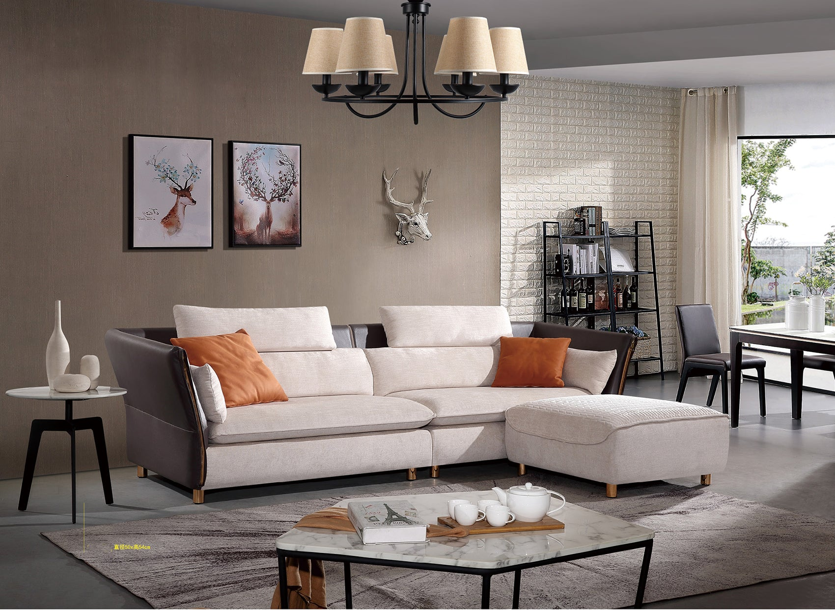 Small apartment - modern fabric sofa-JLFYS18