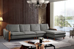 L-shaped first layer leather sofa-JLYS09