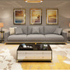 Luxury three-seat latex fabric sofa-ZTSF01