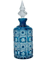 Blue crystal bottle