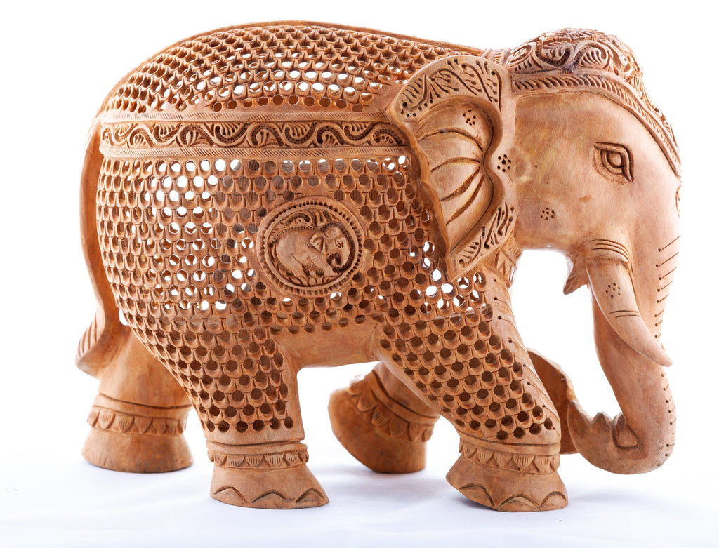 Wooden Elephant Statue - The Emperor's Lane