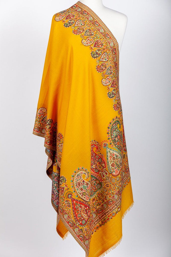Jomolhari Mustard Yellow Shawl