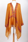 Manaslu Mustard Yellow Embroidered Shawl Stoles and Shawls Handicraft Emporium