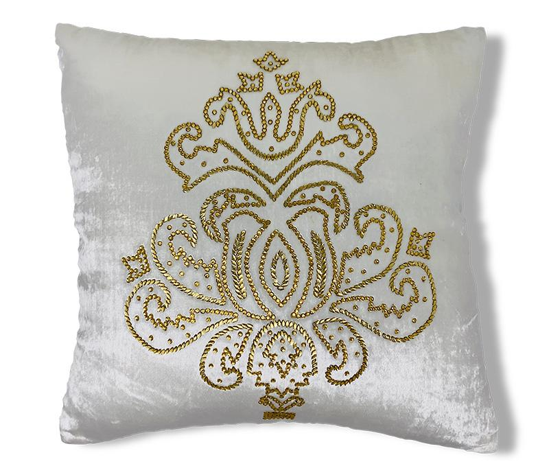 Imperial Crystal Pillow, Off White