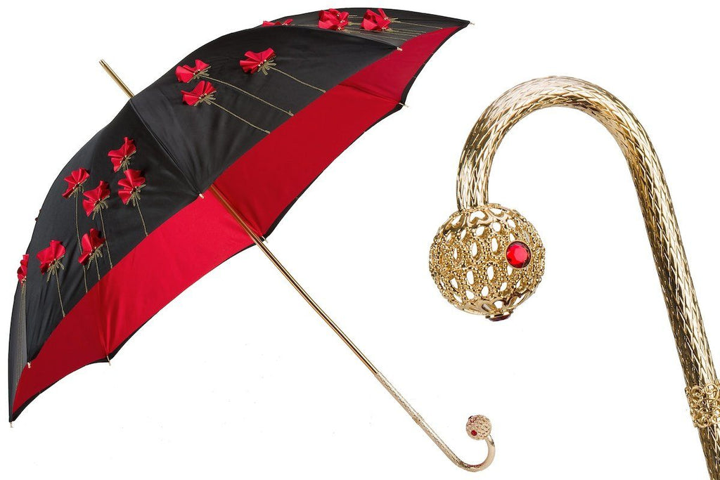 Poppies Umbrella, Double Cloth