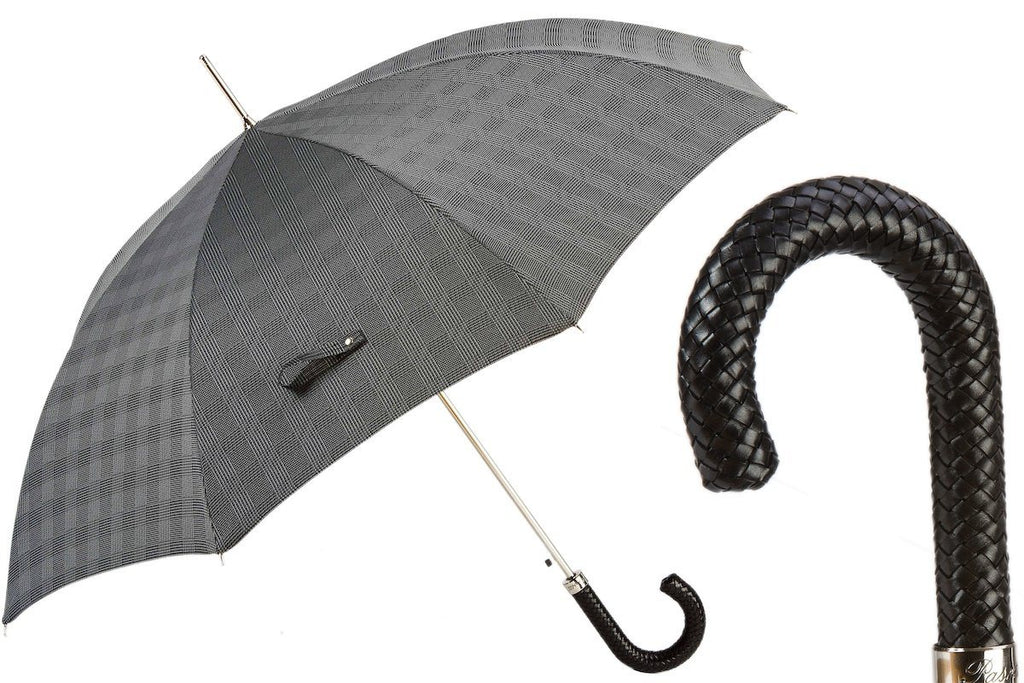 Milford Umbrella with Braided Leather Handle