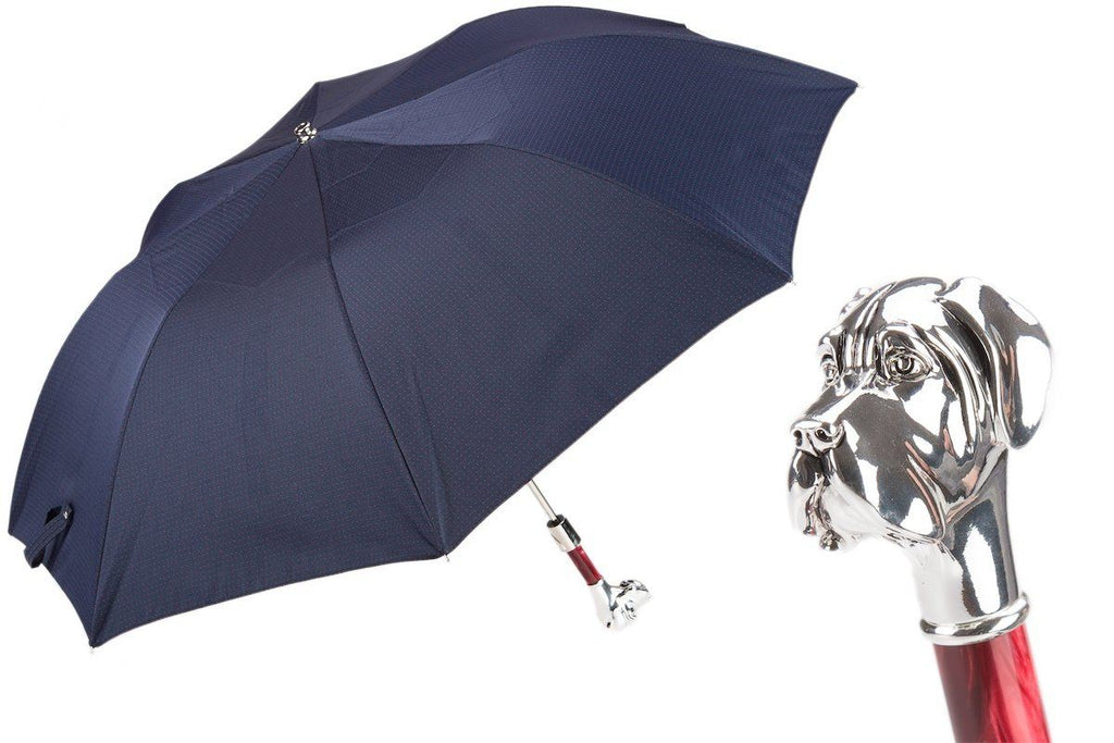 Polka Dot Labrador Folding Umbrella - The Emperor's Lane