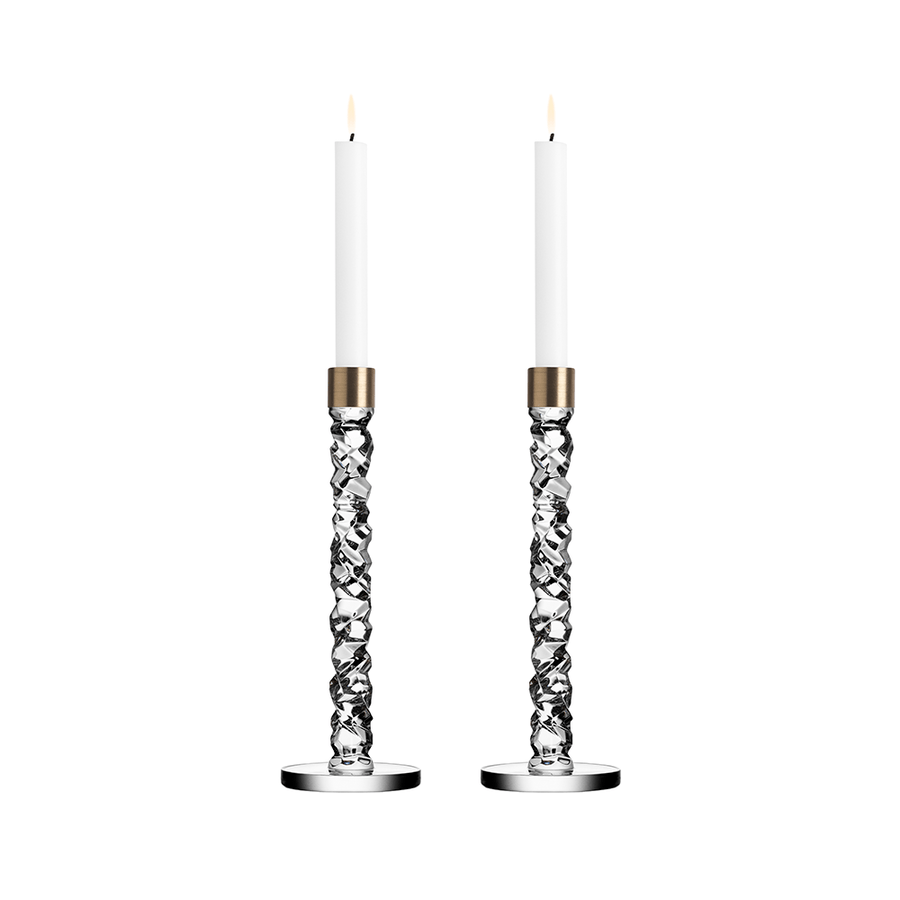 Carat Candlestick, Pair Large in Silver - The Emperor's Lane