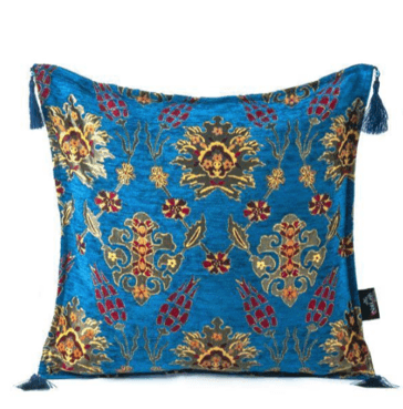 Turquoise Honeycomb Turkish Pillow