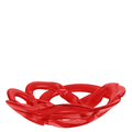 Red Glass Basket Bowl – The Emperor's Lane