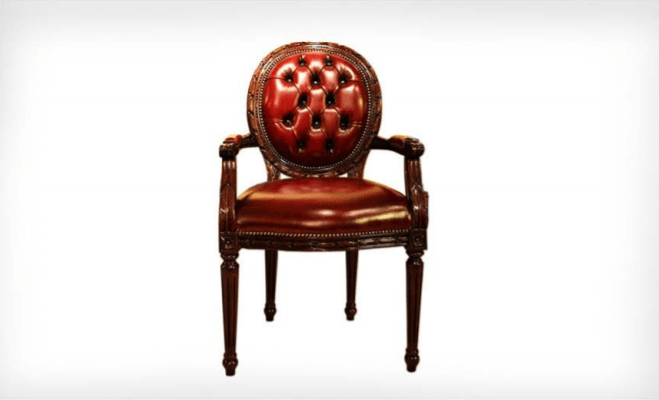 Cameo Arm Chair in Diamond Buttoned - The Emperor's Lane
