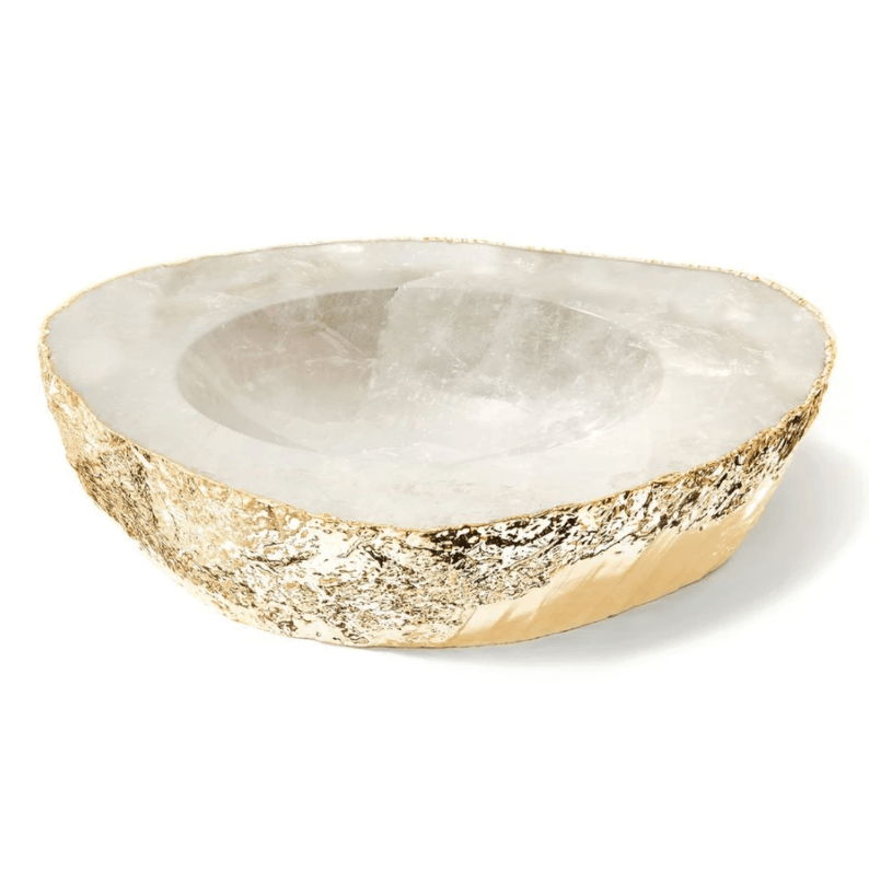 Casca Gold Crystal Bowl, Large - The Emperor's Lane