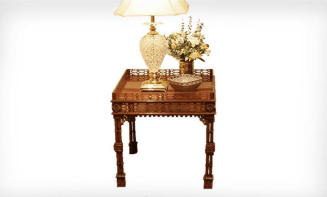Chinese Silver Square Fretwork Chippendale Table - The Emperor's Lane