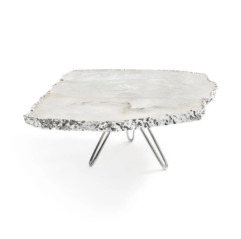 Torta Cake Plate, Silver - The Emperor's Lane