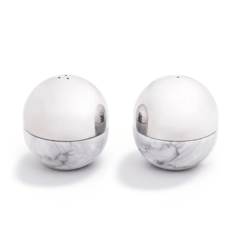 Dual Salt & Pepper Shaker, Marble - The Emperor's Lane