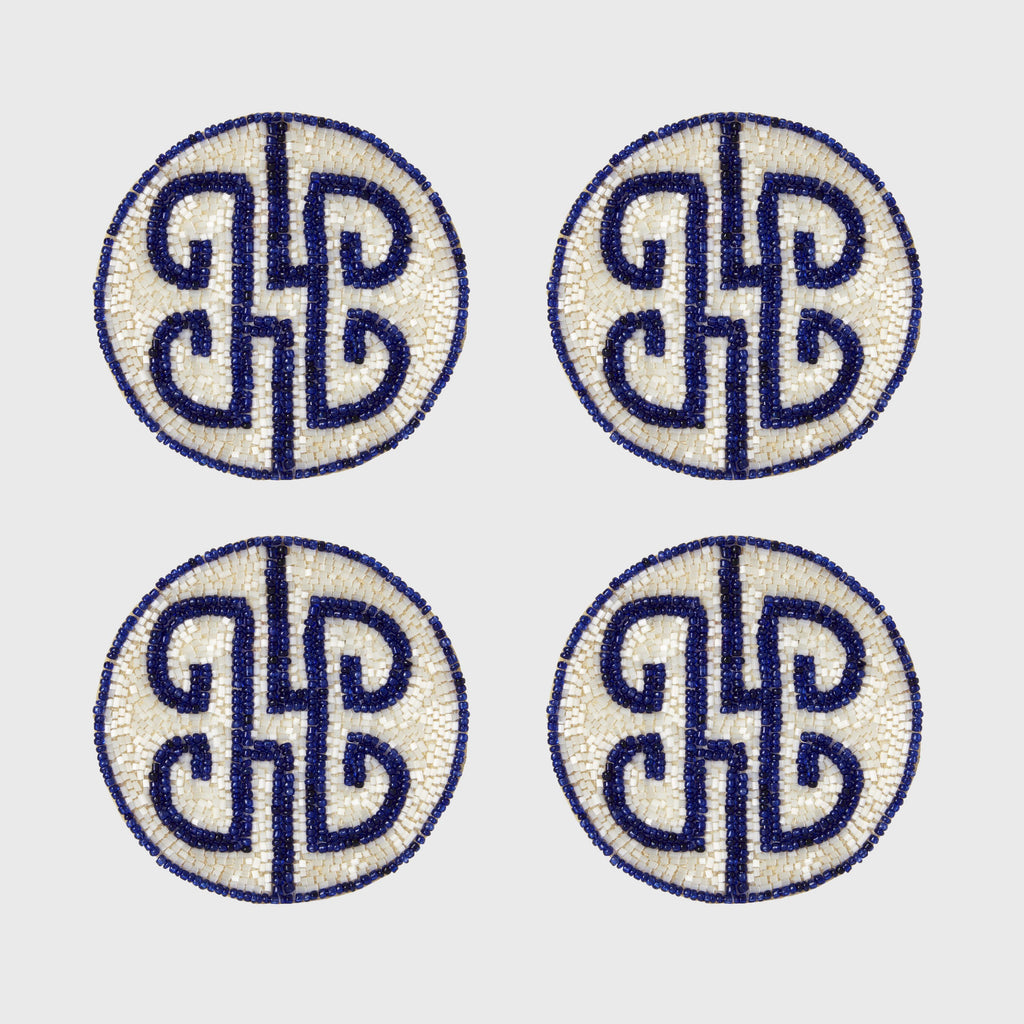 Chinoiserie Coaster, Cobalt, Set of 4 - The Emperor's Lane