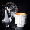 Ivory Musk White Buddha Candle - The Emperor's Lane