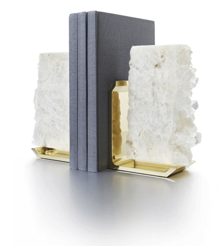 Fim Crystal Bookends - Gold - The Emperor's Lane