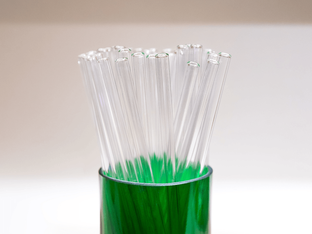 Glass Straw/Stirrer, Set of 6