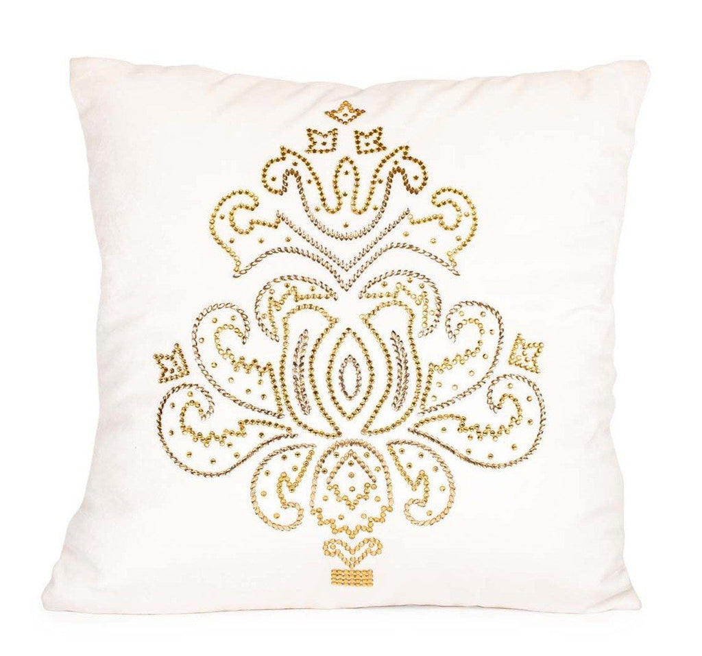 Imperial Crystal Pillow, White