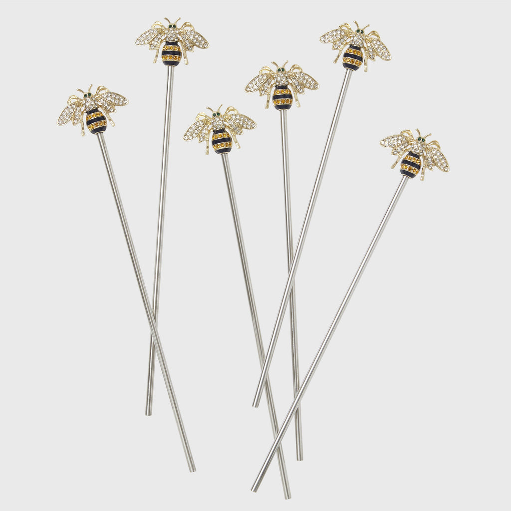 Sparkle Bee Swizzle Sticks - The Emperor's Lane