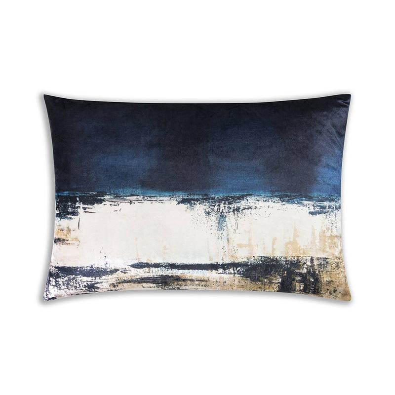 Bali Blue Lumbar Pillow, Watercolor - The Emperor's Lane