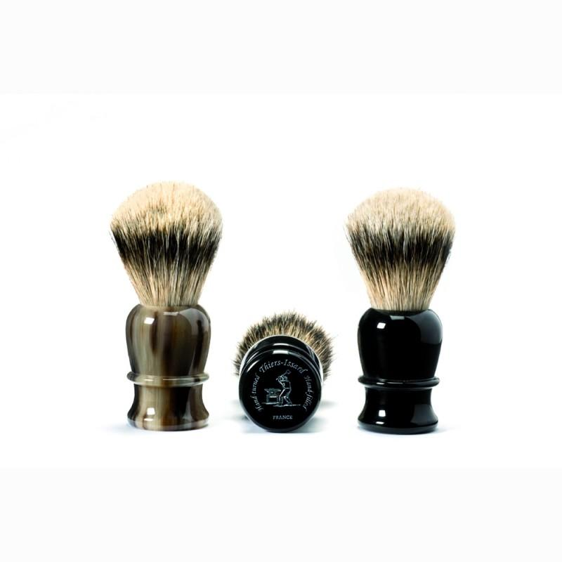 Hand-Tied Shaving Brush Hand-Filled, Genuine Black Horn Handle Grooming Accessories Laguiole