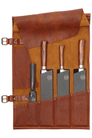 Chief's Cognac Leather Knife Roll 5